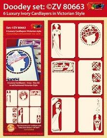 KARTEN und Zubehör / Cards 6 layout di carta di lusso, Stile vittoriano