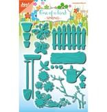 Joy!Crafts und JM Creation Perforación y juego de cliché de estampado, juego de jardín