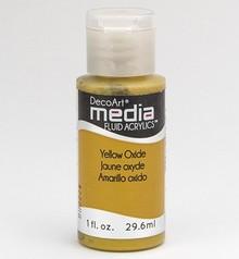 FARBE / INK / CHALKS ... DecoArt acrilici fluido dei media, ossido giallo