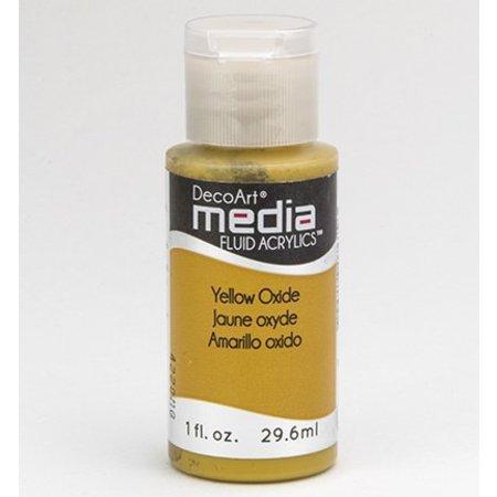 FARBE / INK / CHALKS ... DecoArt media Fluid acrylics, Yellow Oxide