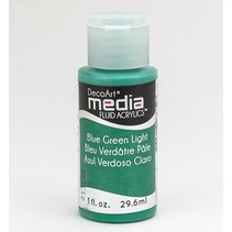 DecoArt media Fluid acrylics, Blue Green Light