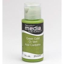 DecoArt media Fluid acrylics, Green Gold