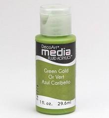 FARBE / INK / CHALKS ... DecoArt acrilici fluido dei media, Oro Verde