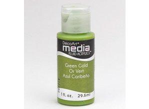 FARBE / INK / CHALKS ... DecoArt media fluid acrylics, Green Gold