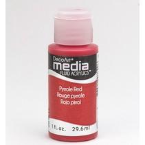Decoart acrílicos fluidos medios, pirroles Red