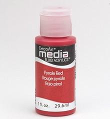 FARBE / INK / CHALKS ... DecoArt acrilici fluido dei media, pirroli Rosso