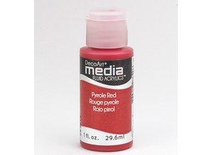 FARBE / INK / CHALKS ... DecoArt media fluid acrylics, pyrroles Red