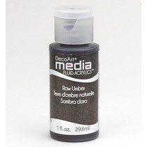 DecoArt media Fluid acrylics, Raw Umber