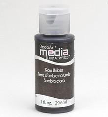 FARBE / INK / CHALKS ... DecoArt acrilici fluido dei media, Terra d'ombra
