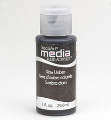 FARBE / INK / CHALKS ... DecoArt media Fluid acrylics, Raw Umber