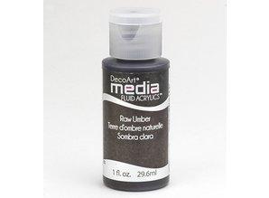 FARBE / INK / CHALKS ... DecoArt medier væske akryl, Raw Umber
