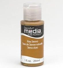 FARBE / INK / CHALKS ... DecoArt media Fluid acrylics, Raw Sienna