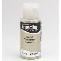 DecoArt media Fluid acrylics, Titan Buff
