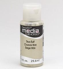 FARBE / INK / CHALKS ... DecoArt media Fluid acrylics, Titan Buff