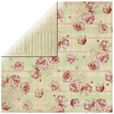 Designer Papier Scrapbooking: 30,5 x 30,5 cm Papier Paper Roses Diseñador