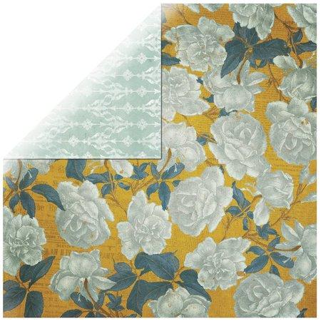 Designer Papier Scrapbooking: 30,5 x 30,5 cm Papier 1 hoja de papel Rosen Diseñador