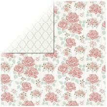 Designer Papier Scrapbooking: 30,5 x 30,5 cm Papier 1 ark Rosen Designer Paper Bouquet