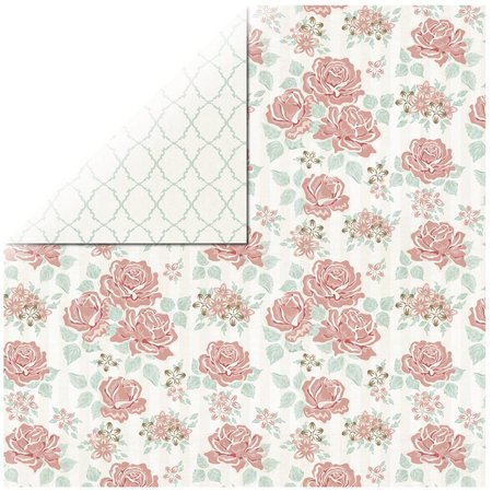 Designer Papier Scrapbooking: 30,5 x 30,5 cm Papier 1 hoja de Rosen Diseñador Papel Bouquet