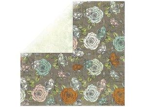 Designer Papier Scrapbooking: 30,5 x 30,5 cm Papier 1 Bogen Rosen Designerpapier