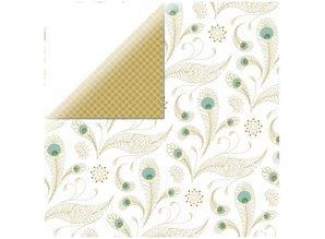 Designer Papier Scrapbooking: 30,5 x 30,5 cm Papier 1 Bogen Designerpapier, Elegance - Pure