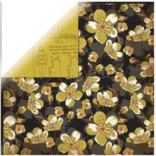 Designer Papier Scrapbooking: 30,5 x 30,5 cm Papier 1 bue designer papir, på loftet - Bøger