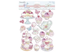Sticker Glitter Stickers, Cupcake Boutique Cakes