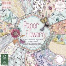 De diseño de bloque, flores, 64 páginas
