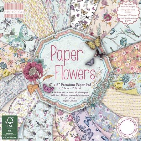 DESIGNER BLÖCKE  / DESIGNER PAPER De diseño de bloque, flores, 64 páginas