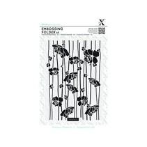 A5 Embossing Folder - Flor de rayas