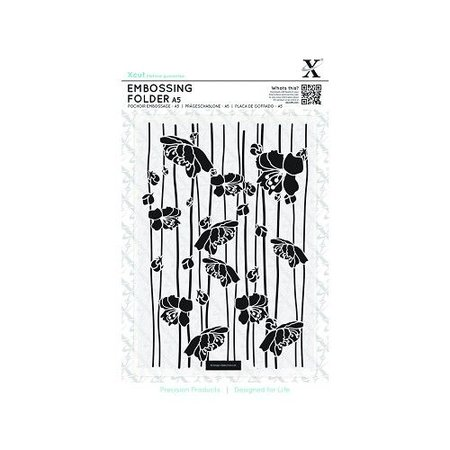 X-Cut / Docrafts A5 Embossing Folder - Blossom Stripes