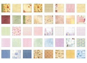 Designer Papier Scrapbooking: 30,5 x 30,5 cm Papier Designer Block, Inspiration Udgave 1