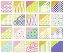 "DESIGNER BLÖCKE  / DESIGNER PAPER Carta scrapbook, ""Lotta 2 '"