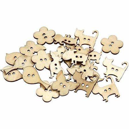 Embellishments / Verzierungen 15 decorative buttons, size 22x21 mm, thickness 2 mm