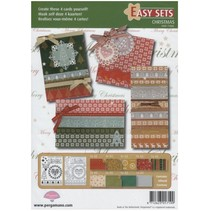 Pergamino Set: 4 Tarjetas de Navidad
