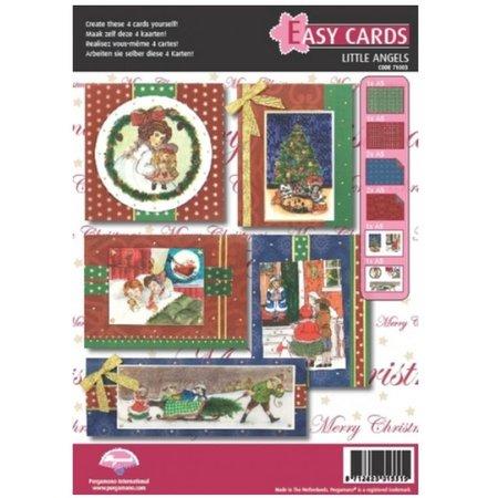 PERGAMENT TECHNIK / PARCHMENT ART Pergamino Set: 5 para las tarjetas de Navidad
