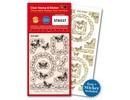 Stempel / Stamp: Transparent Gennemsigtige frimærker, sommerfugle + passer til en Ziersticker