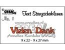 Crealies und CraftEmotions God pris, tyske udgave stempling og prægning stencil