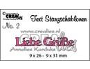 Crealies und CraftEmotions AKTIONSPREIS, deutsche Text Stanz- und Prägeschablone