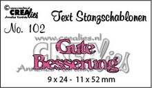 Crealies und CraftEmotions BARGAIN PRICE, German text stamping and embossing stencil