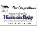 Crealies und CraftEmotions PRECIO GANGA, alemán estampado de texto y de la plantilla de estampado
