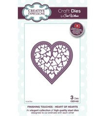 Creative Expressions Stamping and Embossing stencil, heart full of hearts