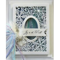 Cutting and embossing stencils, Christmas motifs: decorative frame with snowflakes