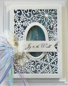 Creative Expressions Taglio e goffratura stencil, motivi natalizi: cornice decorativa con i fiocchi di neve
