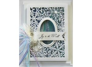 Creative Expressions Cutting and embossing stencils, Christmas motifs: decorative frame with snowflakes
