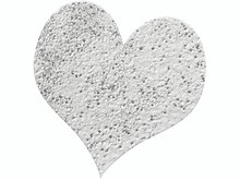 FARBE / INK / CHALKS ... Embossing Powder 10g glitter argento