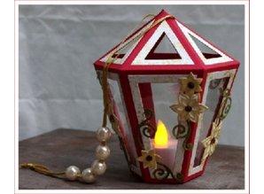 Crealies und CraftEmotions Stansning og prægning stencil, Lantern