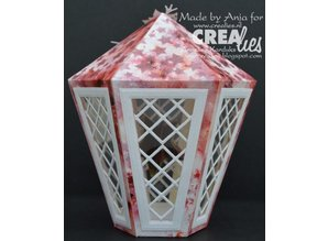 Crealies und CraftEmotions Punching and embossing stencil, Lantern