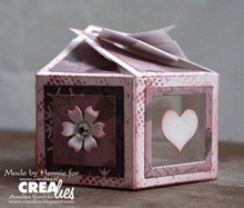 Crealies und CraftEmotions Punzonatura e Prägechablone per una scatola di sei facce 7 x 14 cm