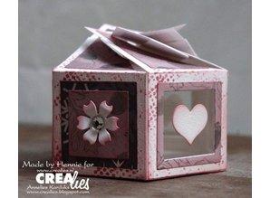 Crealies und CraftEmotions six-sided box 7 x 14 cm