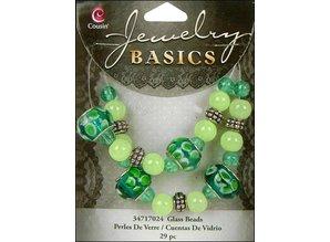 Schmuck Gestalten / Jewellery art Joyería artesanal establece con cuentas de vidrio